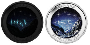 SALE - 2015 $25 FINE SILVER COIN - STAR CHARTS - THE ETERNAL PRESUIT