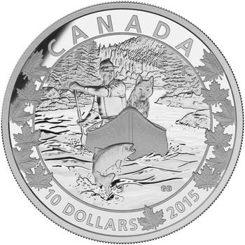 2015 $10 FINE SILVER COIN CANOE ACROSS CANADA: SPLENDID SURROUNDINGS