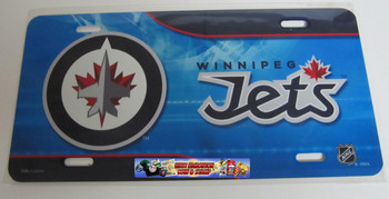WINNIPEG JETS NHL METAL AIRBRUSH LICENCE PLATES