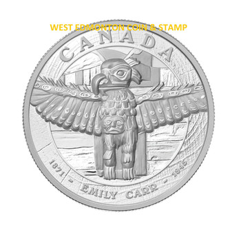 2013 $500 5-KILO FINE SILVER COIN - GREAT CANADIAN ARTIST - EMILY CARR'S