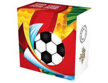 """2015 $10 FINE SILVER COIN FIFA WOMEN'S WORLD CUP™ """"GO CANADA GO!"""""""