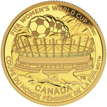 2015 $75 PURE GOLD COIN FIFA WOMEN'S WORLD CUP™ - THE CHAMPIONSHIP GAME (1/4oz. GOLD)