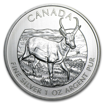 1oz. 2013 CANADIAN PRONGHORN SILVER COIN