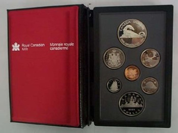 1986 PROOF DOUBLE DOLLAR SET