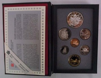 1994 PROOF DOUBLE DOLLAR SET - 25TH ANN OF THE LAST RCMP NORTHERN DOG SLED TEAM