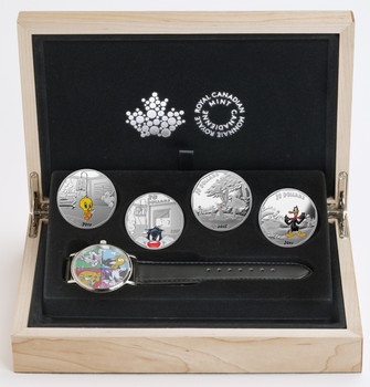 2015 $20 FINE SILVER 4-COIN AND WATCH  - LOONEY TUNES™