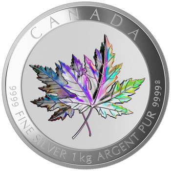 2015 $250 FINE SILVER COIN MAPLE LEAF FOREVER