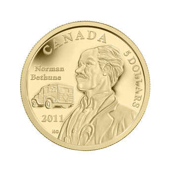 2011 $5 1/10TH OZ. GOLD COIN 75TH ANNIV. OF DR. NORMAN BETHUNES