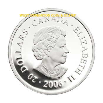 2006 ARCHITECTURAL TREASURES $20 PURE SILVER PENGROWTH SADDLEDOME