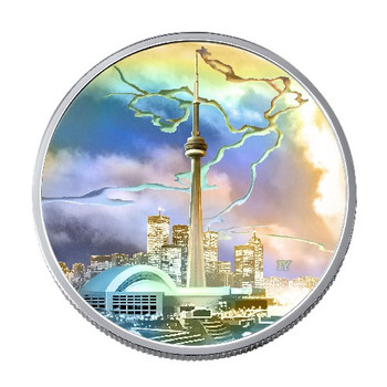 2006 CN TOWER $20 SILVER COIN ARCHITECTURAL TREASURES SERIES