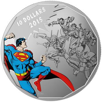 2015 $10 FINE SILVER COIN DC COMICS™ ORIGINALS: GAUNTLET