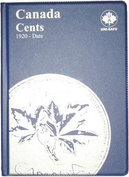 CANADA 1 CENTS - SMALL PENNIES - 1920-DATE - BLUE COIN FOLDERS - UNI-SAFE