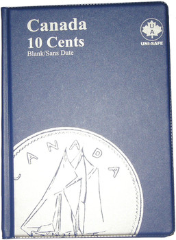 CANADA 10 CENTS - DIMES - BLANK - BLUE COIN FOLDERS - UNI-SAFE