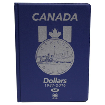 CANADA 1 DOLLARS - LOONIES - 1987-2016 - BLUE COIN FOLDERS - UNI-SAFE
