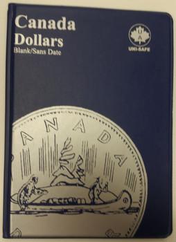 CANADA 1 DOLLARS - LOONIES & SILVER DOLLARS - BLANK - BLUE COIN FOLDERS - UNI-SAFE