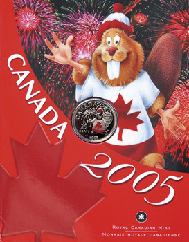 2005 25 CENTS CANADA DAY (BEAVER) COIN