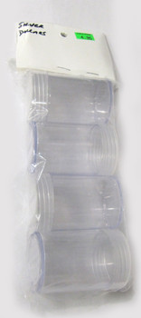 ROUND PLASTIC COIN TUBES - PACK OF 4 - SILVER DOLLAR SIZE