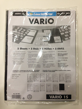 VARIO BLACK STAMP STOCKPAGES - FIVE SHEETS - ONE STRIP