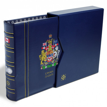 VISTA CANADIAN COIN BINDER WITH SLIP COVER - 25 CENT (BLANK - NO DATES)
