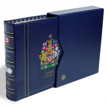 VISTA CANADIAN COIN BINDER WITH SLIP COVER - 25 CENT (DATED 1953-DATE)