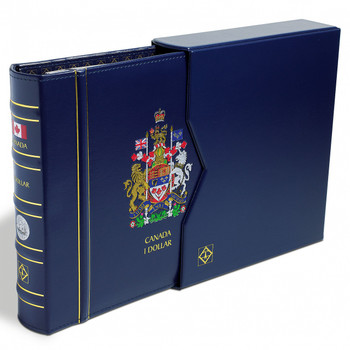 VISTA CANADIAN COIN BINDER WITH SLIP COVER - SILVER DOLLARS (BLANK - NO DATES)
