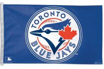 TORONTO BLUE JAYS MLB BASEBALL POLYESTER FLAG - 3 X 5 FEET - INDOOR/OUTDOOR - BRAND NEW