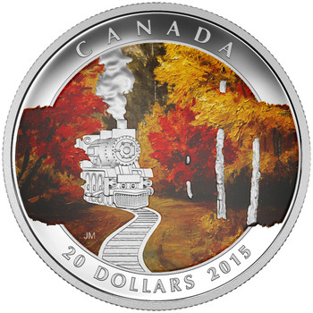 2015 $20 FINE SILVER COIN AUTUMN EXPRESS