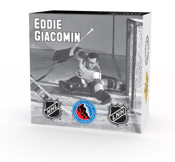 2015 $10 FINE SILVER COIN - ORIGINAL SIX™ GOALIES - EDDIE GIACOMIN