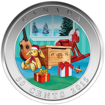 2015 50-CENT LENTICULAR COIN HOLIDAY TOY BOX