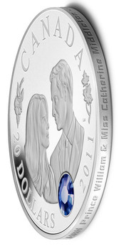 2011 $20 SILVER COIN - WEDDING CELEBRATION - PRINCE WILLIAM & CATHERINE MIDDLETON