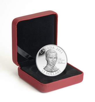 2011 $15 ULTRA HIGH RELIEF STERLING SILVER COIN - H.R.H. PRINCE WILLIAM OF WALES