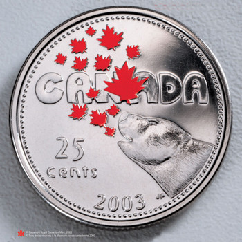 2003 CANADA COLOURED QUARTER (5TH IN SERIES)