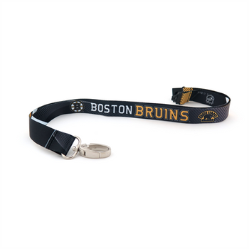 BOSTON BRUINS NHL HOCKEY LANYARD - SUBLAMINATE KEY HOLDER - NEW WITH TAGS