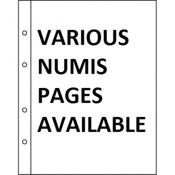 5 NUMIS COIN PAGES - VARIOUS SIZES AVAILABE