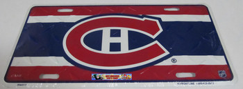 MONTREAL CANADIENS NHL DIAMOND CUT LOOK METAL LICENCE PLATE