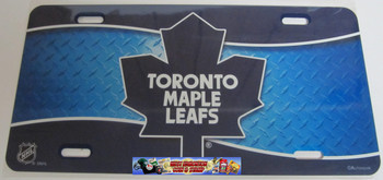 TORONTO MAPLE LEAFS NHL METAL AIRBRUSH LICENCE PLATES