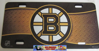 BOSTON BRUINS NHL METAL AIRBRUSH LICENCE PLATES