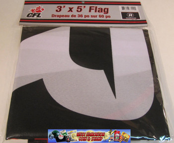 OTTAWA REDBLACKS CFL FOOTBALL POLYESTER FLAG  - 3 X 5 FEET - INDOOR/OUTDOOR - BRAND NEW