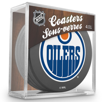 EDMONTON OILERS NHL HOCKEY PUCK COASTERS - 4-PACK