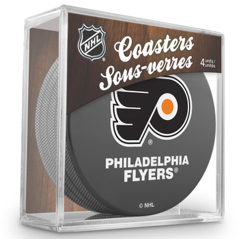 PHILADELPHIA FLYERS NHL HOCKEY PUCK COASTERS - 4-PACK