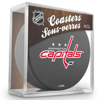 WASHINGTON CAPITALS NHL HOCKEY PUCK COASTERS - 4-PACK