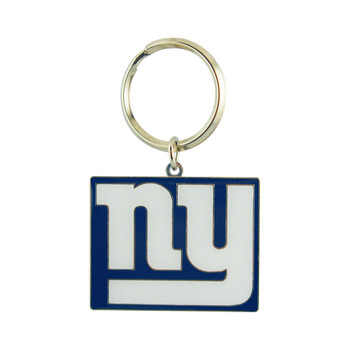 NEW YORK GIANTS - NFL FOOTBALL - DIECUT METAL ENAMEL PAINT LOGO KEYCHAIN