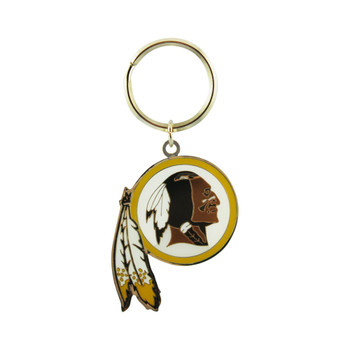 WASHINGTON REDSKINS - NFL FOOTBALL - DIECUT METAL ENAMEL PAINT LOGO KEYCHAIN