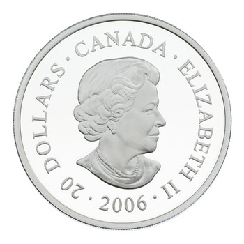 2006 $20 FINE SILVER COIN - JASPER - CANADIAN NATIONAL PARKS