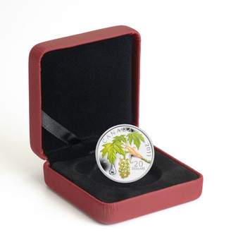 2011 $20 FINE SILVER COIN - MAPLE LEAF CRYSTAL RAINDROP