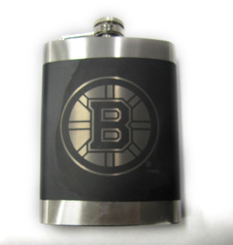 BOSTON BRUINS NHL LASER ENGRAVED STAINLESS STEEL FLASK