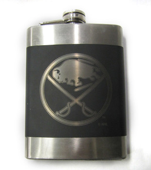 BUFFALO SABRES NHL LASER ENGRAVED STAINLESS STEEL FLASK