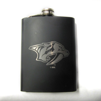 NASHVILLE PREDATORS  NHL LASER ENGRAVED STAINLESS STEEL FLASK