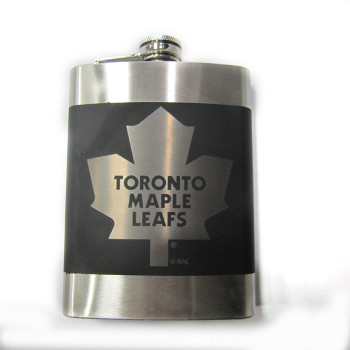 TORONTO MAPLE LEAFS NHL LASER ENGRAVED STAINLESS STEEL FLASK