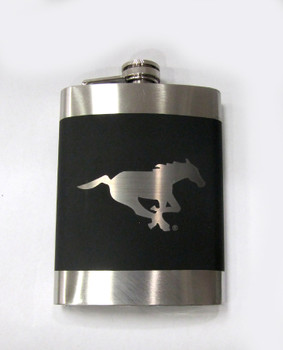 CALGARY STAMPEDERS CFL LASER ENGRAVED STAINLESS STEEL FLASK